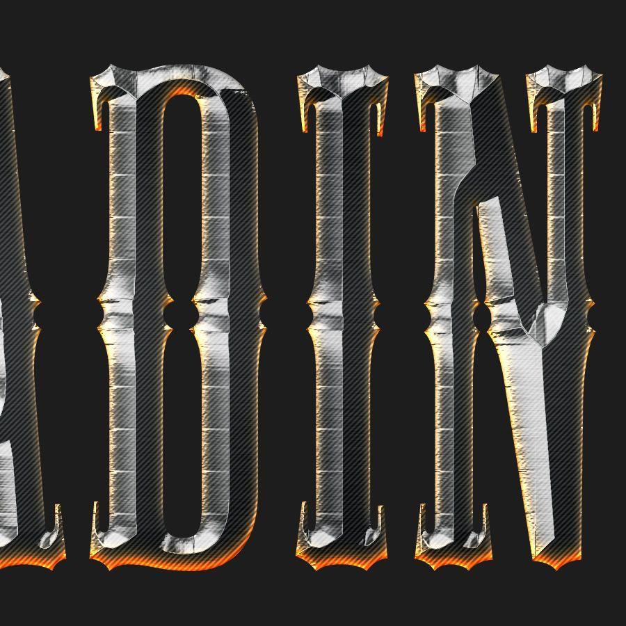 دانلود افکت متن فتوشاپ Chrome & Fire - Gothic Medieval Layer Styles Fx