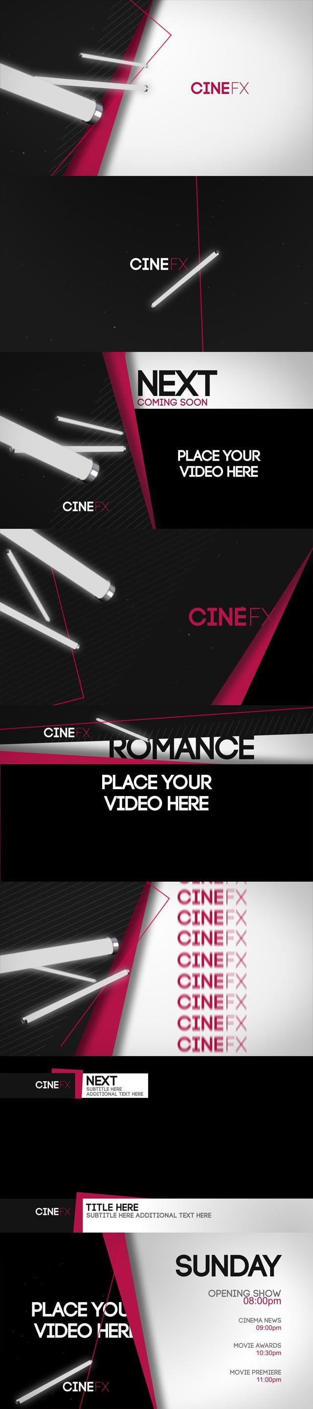 دانلود پروژه آماده افترافکت کانال اخبار Cine FX Broadcast Channel Package