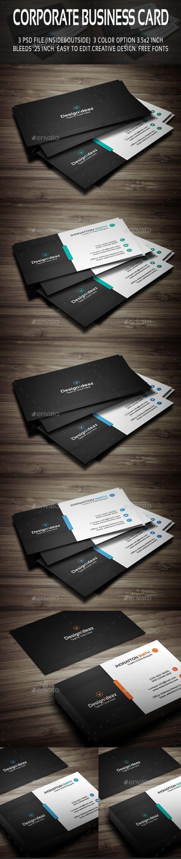 قالب گرافیک کارت ویزیت شرکتی رایگان کیفیت بالا graphicriver corporate business card v01