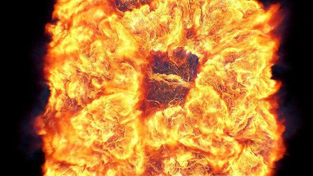 تیزر افتر افکت نمایش لوگو انفجار رنگی Fire Explosion Logo Reveal II
