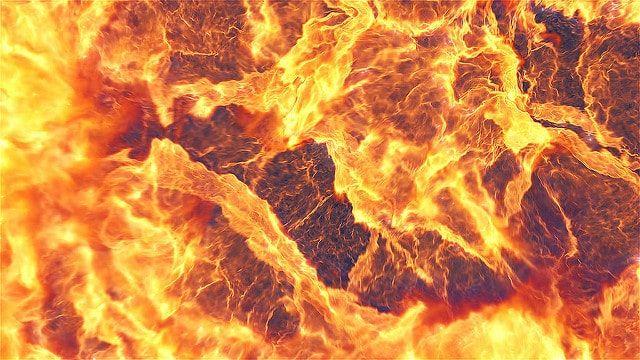 دانلود پروژه آماده افترافکت : نمایش لوگو با انفجار اعداد Fire Explosion Logo Reveal II