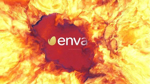 دانلود پروژه آماده افتر افکت نمایش لوگو Fire Explosion Logo Reveal II