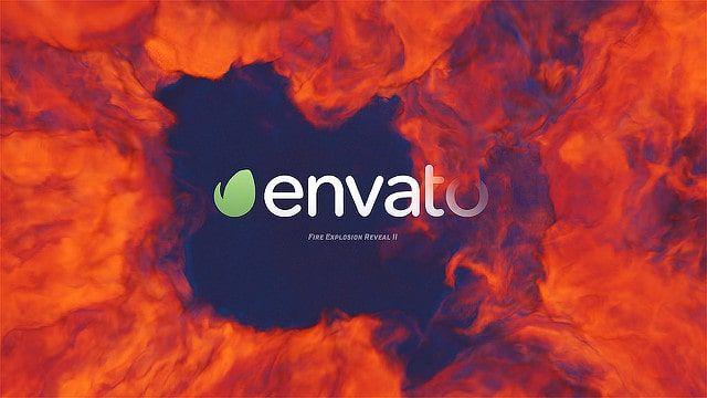 دانلود پروژه آماده افترافکت : نمایش لوگو با انفجار بمب Fire Explosion Logo Reveal II