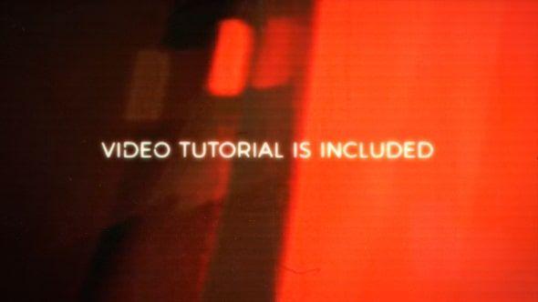 پروژه افترافکت نمایش لوگو رایگان videohive glitch halo