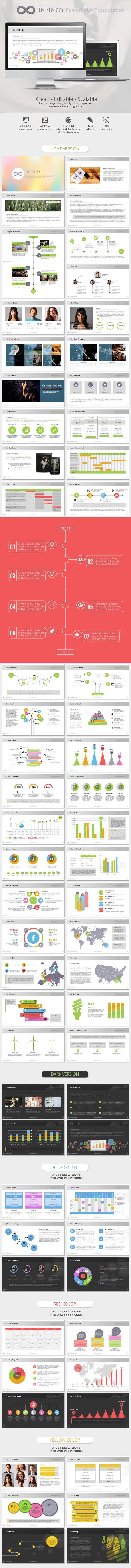دانلود graphicriver Infinity Colors Business PowerPoint Presentation Template
