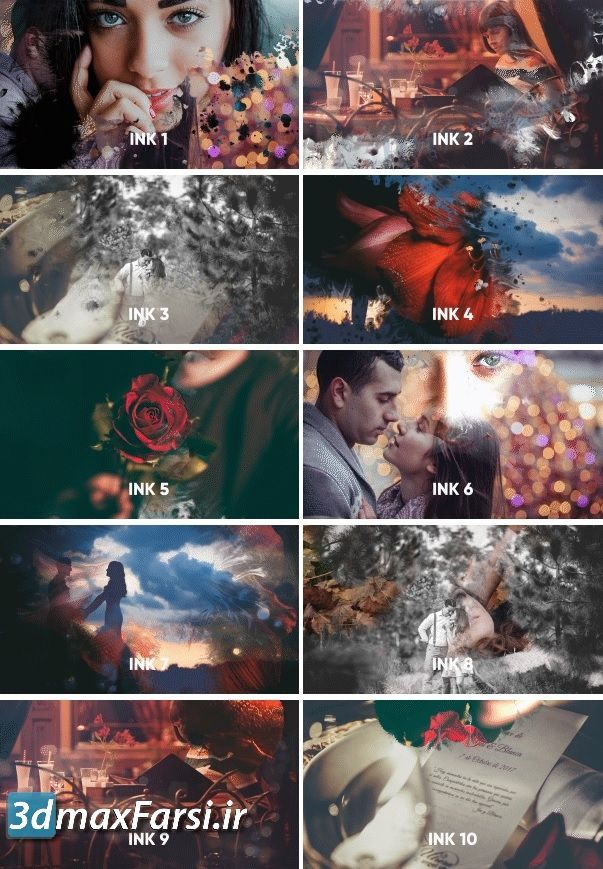 videohive : Ink Transitions free Download