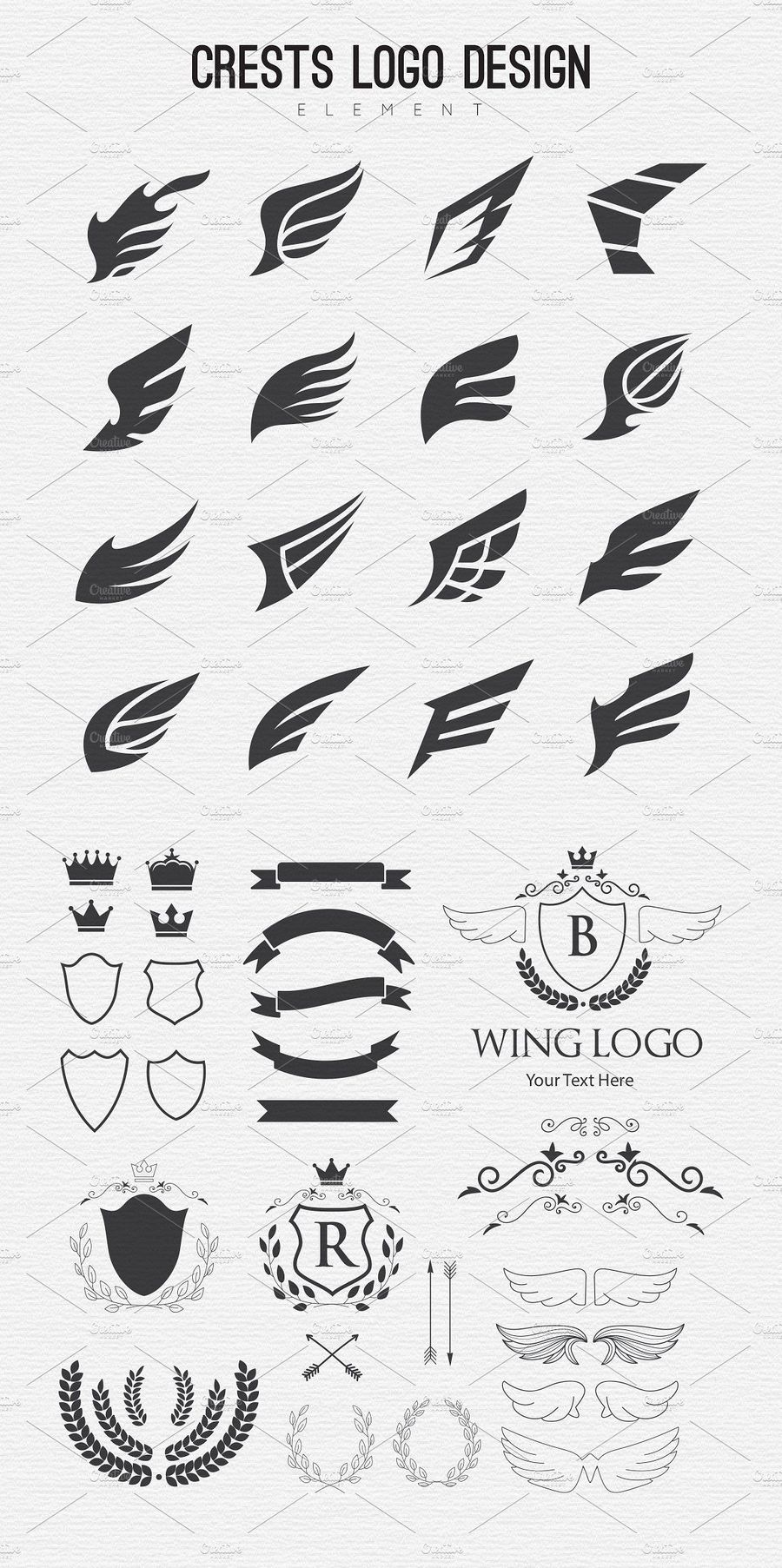 وکتور لوگو چیست Creativemarket Logo Design Element Kit