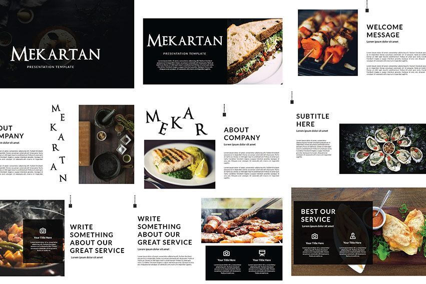 دانلود قالب پاورپوینت معماری Creativemarket Mekartan Keynote