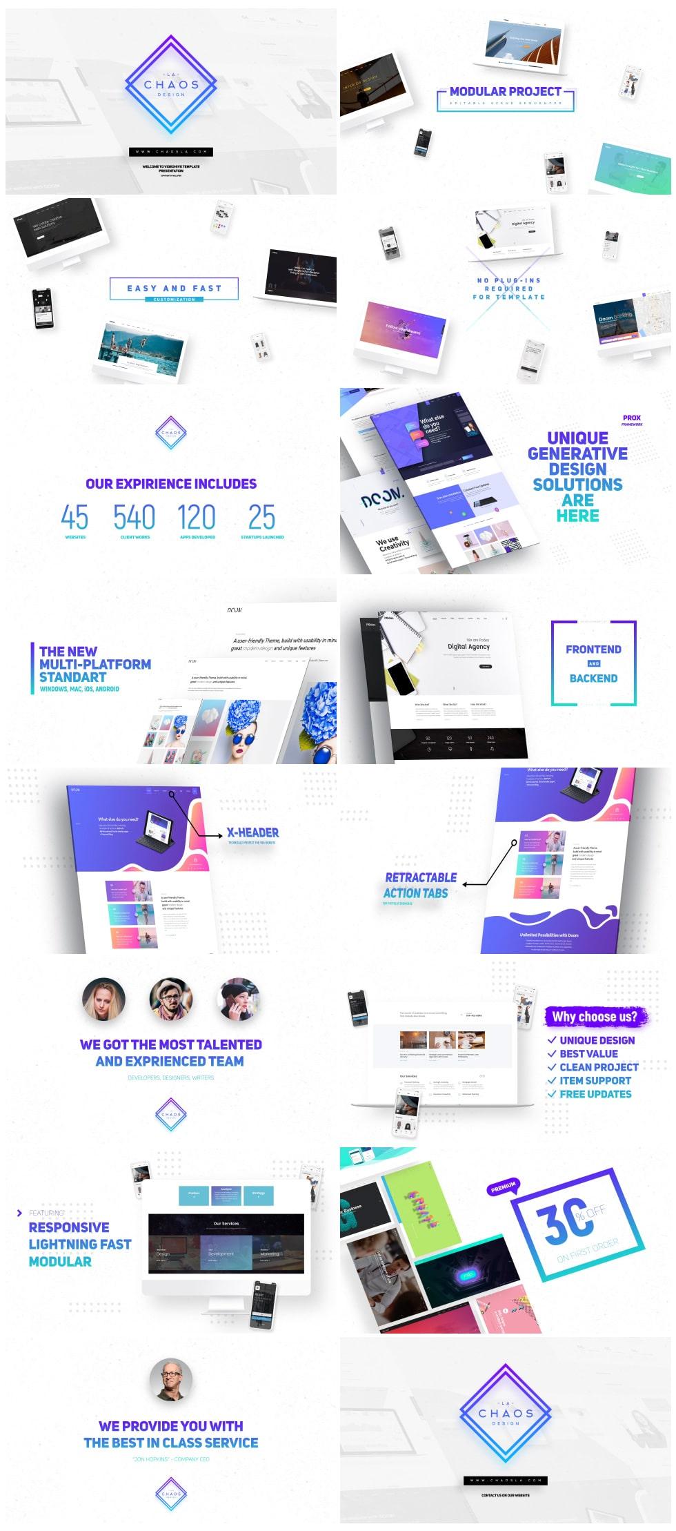 پروژه تیزر تبلیغاتی معرفی وبسایت Premium Website Presentation