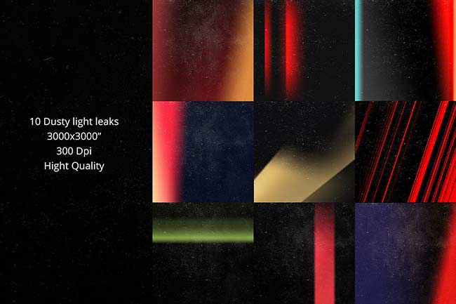 افکت پرتو نور در فتوشاپ Pro LIGHT LEAKS 95 Photoshop Bundle