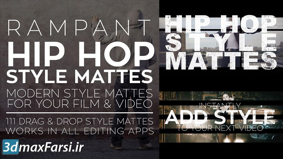 دانلود پکیج موشن گرافیک مت ویدیویی Rampant Hip Hop Style Mattes مجموعه مت استایل های هیپ هاپ