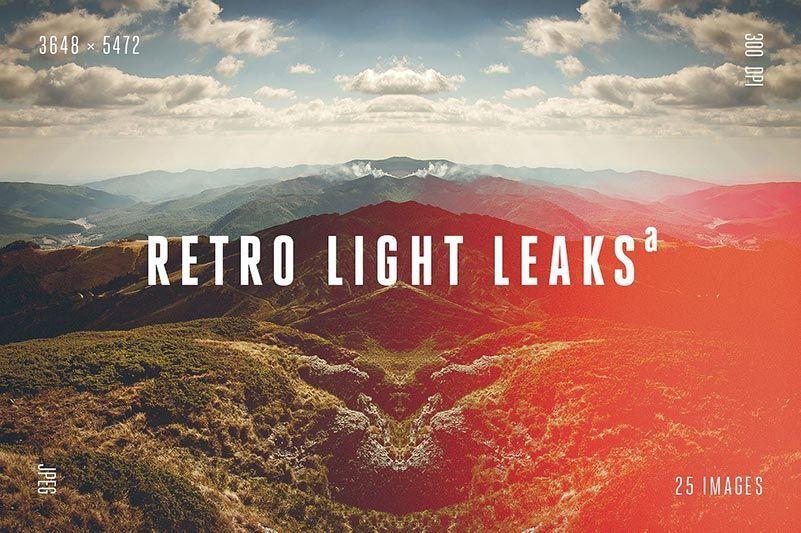 افکت نشت نور Retro Light Leaks