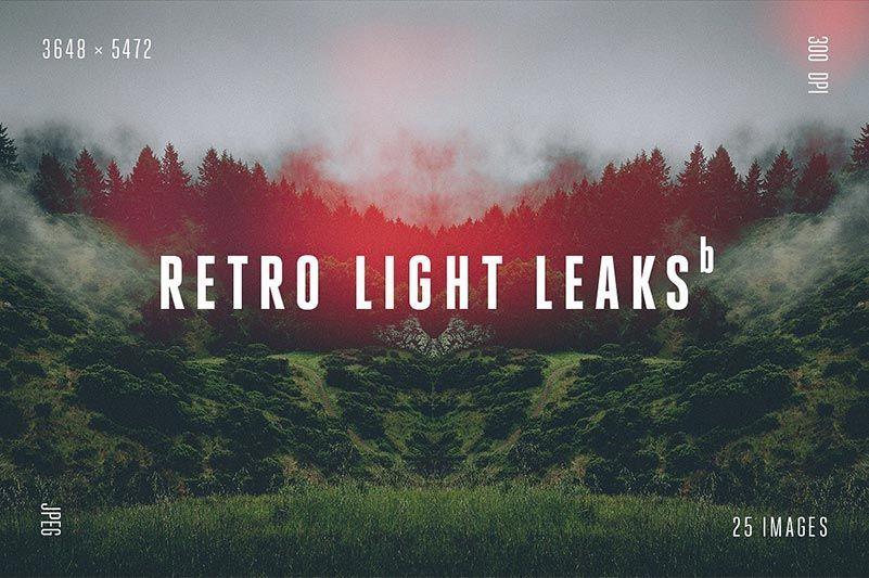دانلود افکت نور برای ادیوس Retro Light Leaks