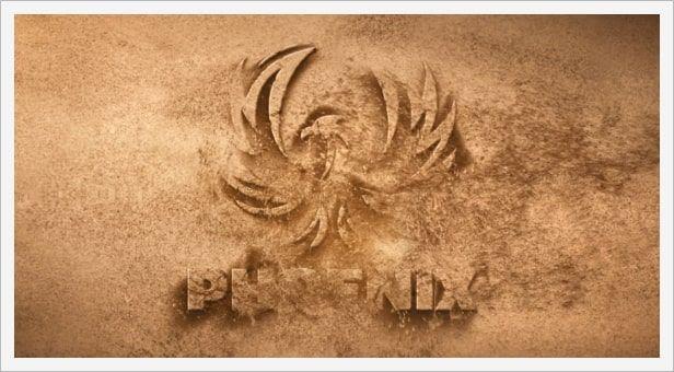 دانلود رایگان پروژه آماده افتر افکت نمایش عکس videohive Sand Logo Opener