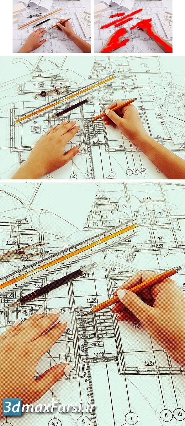دانلود اکشن فتوشاپ معماری اسکیس