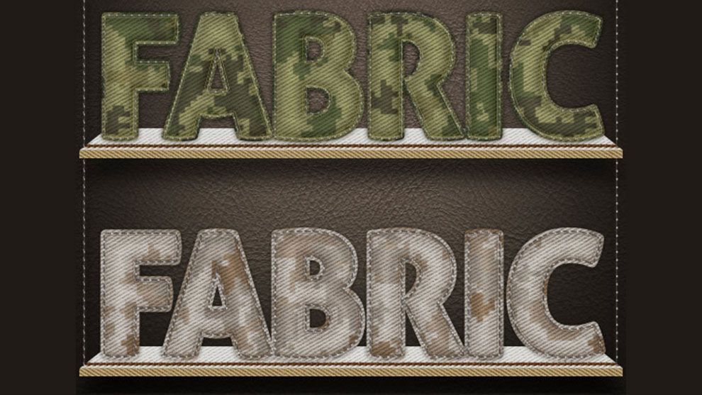 دانلود graphicriver : text fabric styles