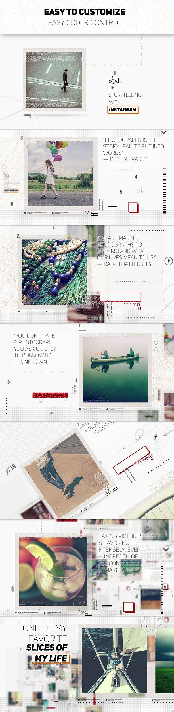 videohive The Art of Storytelling پروژه افترافکت نمونه کار نقل قول عکس هنری