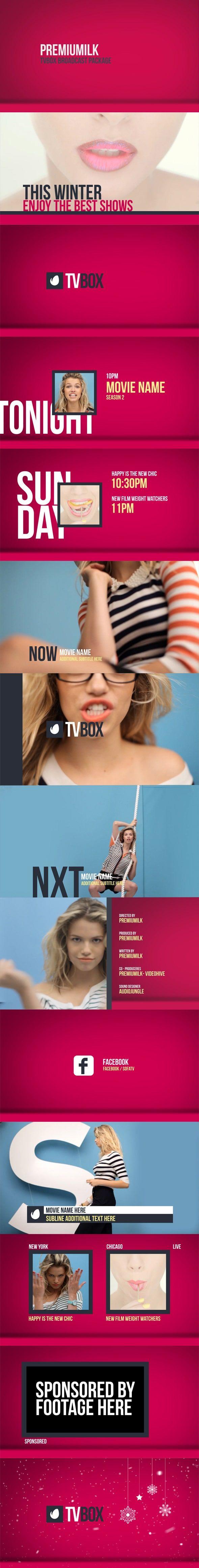 دانلود پروژه افترافکت برودکست تلویزیونی videohive : TVBOX Broadcast Package