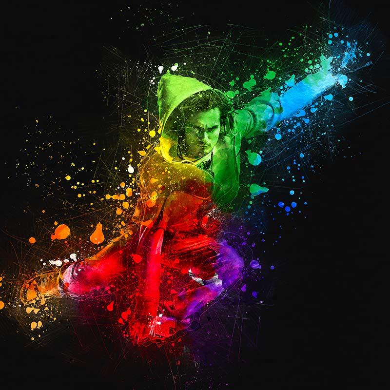 اکشن فتوشاپ چیست Digital Art Photoshop Action