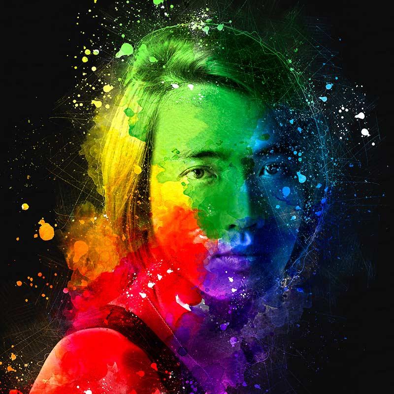 دانلود اکشن ایجاد افکت آبرنگ و مداد بر روی تصاویر از گرافیک ریور Digital Art Photoshop Action