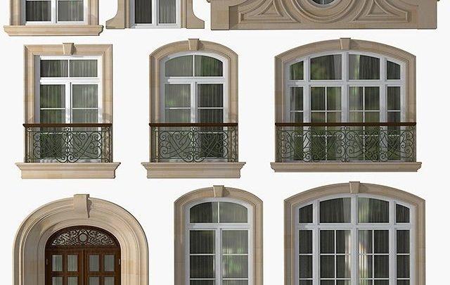 دانلود آبجکت درب و پنجره تری دی مکس (کلاسیک و مدرن)