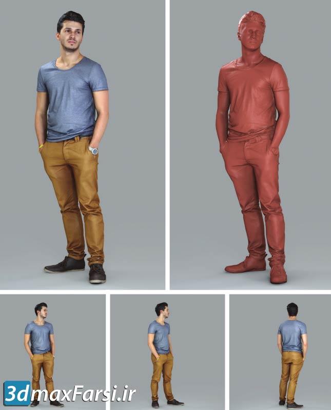 دانلود رایگان مدل سه بعدی انسان با کیفیت بالا Posed 3D-Human models
