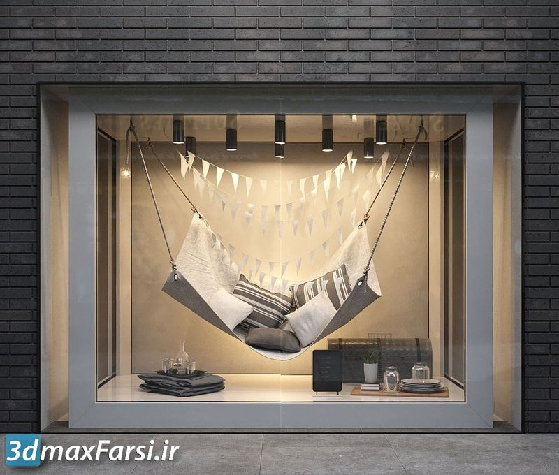آرچ مدل 198 - مدل سه بعدی ویترین فروشگاه و مغازه - Archmodel Vol 198