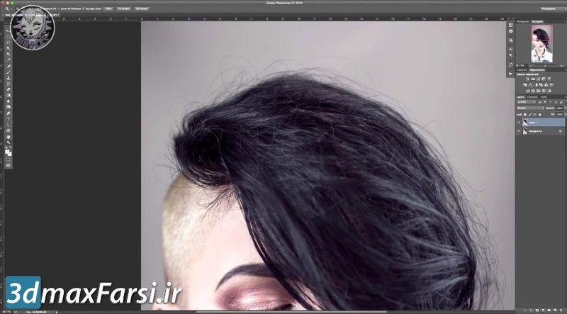 آموزش گذاشتن مو روی سر در فتوشاپ Photoshop Hair Editing