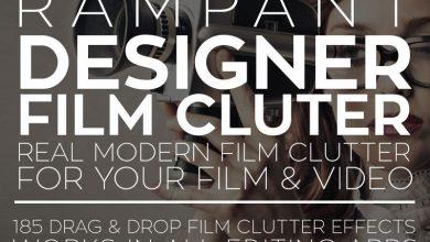 Photo of دانلود افکت فیلم پریمیر افترافکت Rampant Design Tools Designer Film Clutter