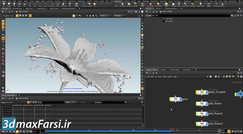 فیلم شبیه سازی قطره آب هودینی
