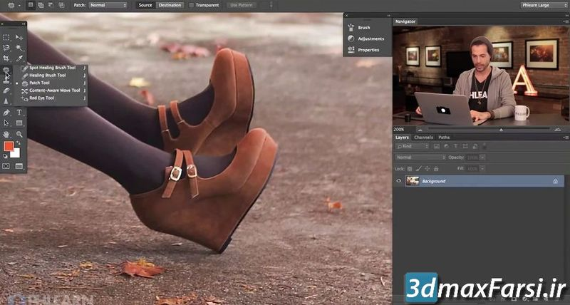 پچ فتوشاپ Photoshop Patch Tool