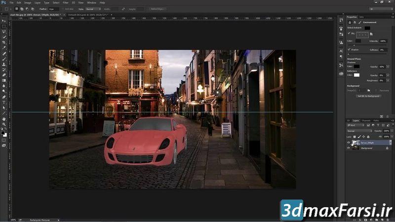 دانلود کامپوزیت مدل 3D به عکس با فتوشاپ