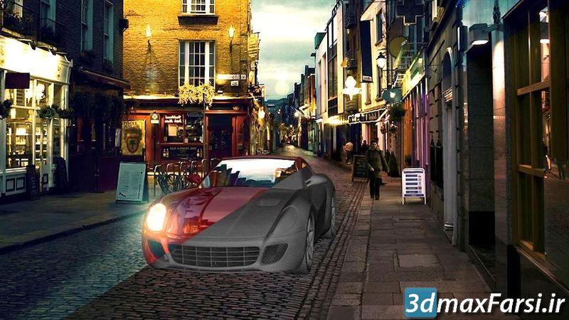 دانلود آموزش کامپوزیت مدل 3D به عکس با فتوشاپ