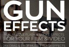 Rampant gun effects muzzle flashes فوتیج شلیک اسلحه + افکت دود تیر اندازی افترافکت پریمیر فاینال کات
