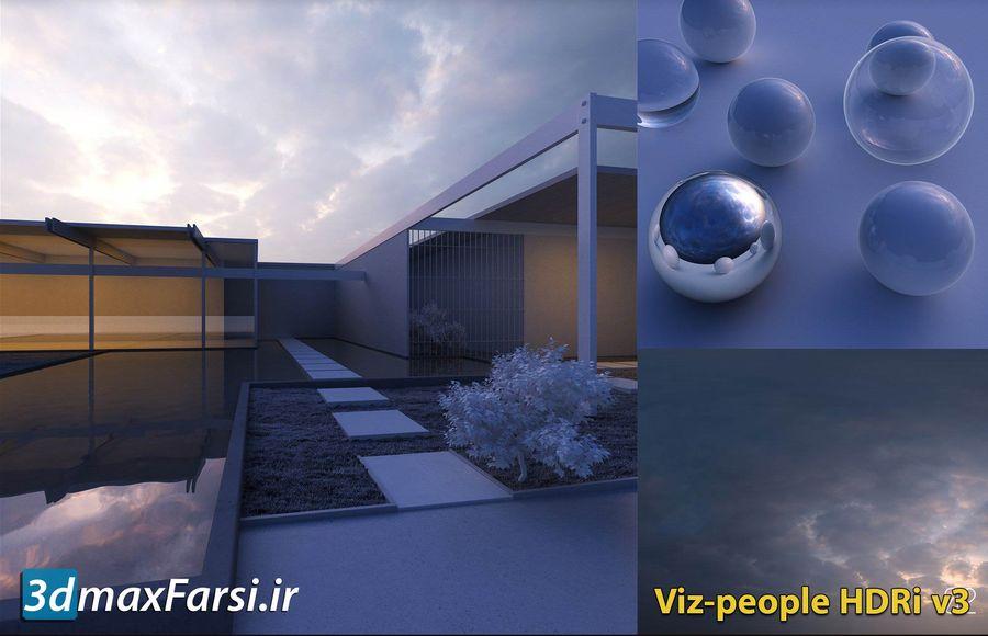 دانلود رایگان تصاویر آسمان اچ دی آر ابری صاف Viz-people hdri v3