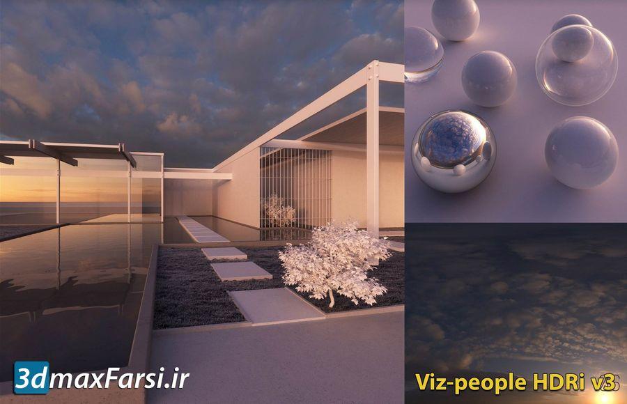 عکس آسمان اچ دی آر ابری صاف Viz-people hdri v3