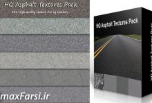 دانلود تکسچر آسفالت و جاده (آسیب دیده) HQ Asphalt Textures Bundle