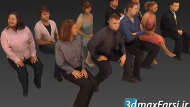 دانلود آبجکت انسان نشسته برای تری دی مکس Got3d - People-Models-Seated 1