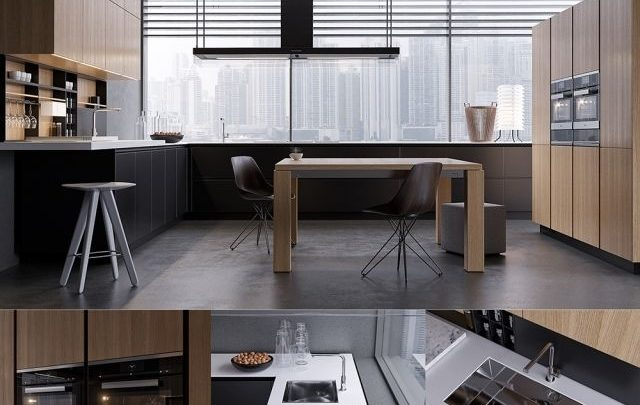 دانلود ابجکت کابینت مدرن Pro 3DSky - Kitchen Poliform Varenna Twelve 2