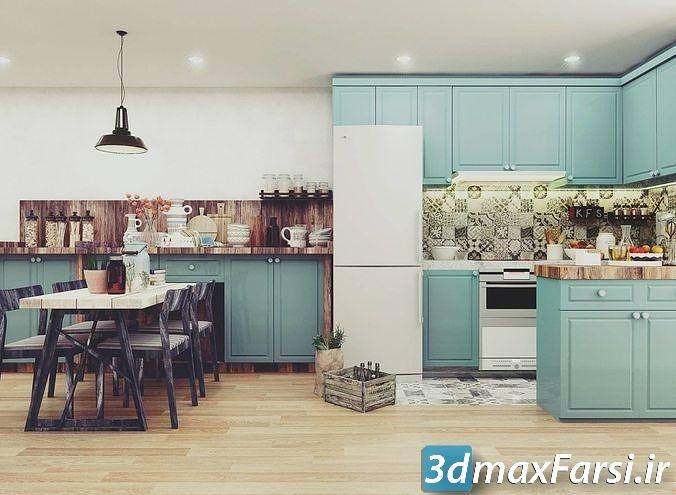 Cgtrader Vintage Full House Design 3D model دانلود صحنه سه بعدی داخلی تری دی مکس ویری سینمافوردی