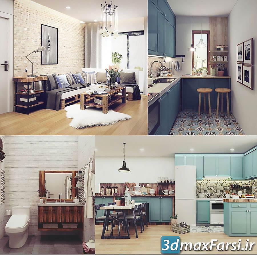 دانلود مدل صحنه سه بعدی Cgtrader - Vintage Full House Design 3D model