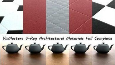 پکیج متریال معماری VizMasters V-Ray Architectural Materials Vols 1 & 2
