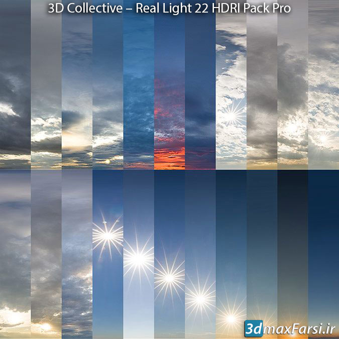 دانلود تصاویر اچ دی آر (آسمان آفتابی) Real Light 22 HDRI Pack Pro