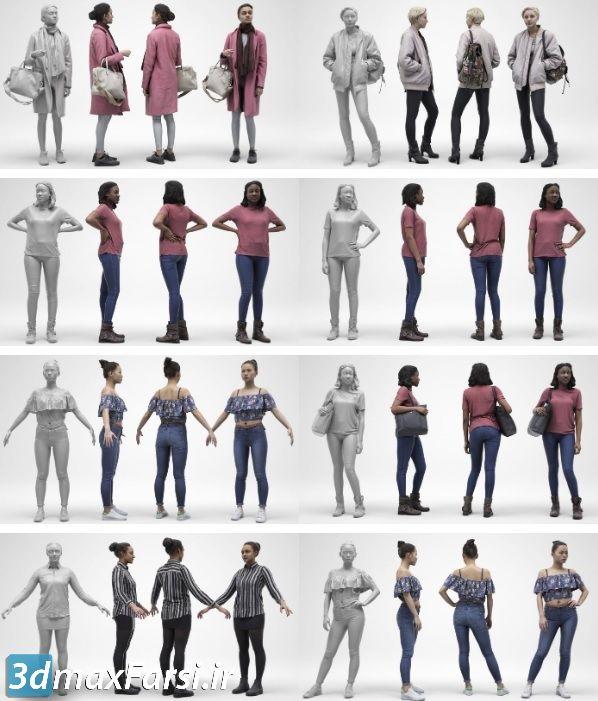 آبجکت انسان 3D Scan Store - Females Archviz People Scanned