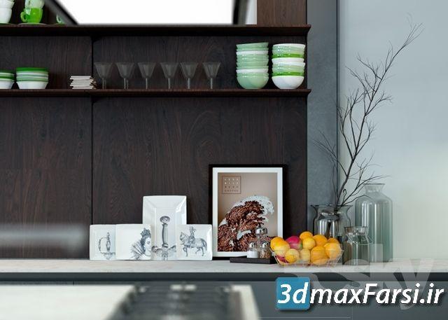 دانلود مدل آماده سه بعدی : آشپزخانه Pro 3DSky – Varenna Poliform Twelve Kitchen