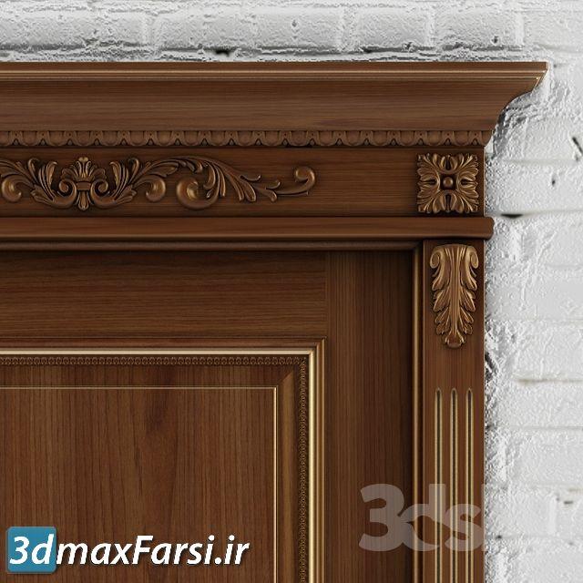 آبجکت درب چوبی کلاسیک لوکس تری دی مکس ویری