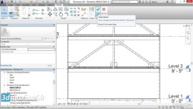 Photo of آموزش قاپ مهاربندی رویت استراکچر Revit Structure brace-frame