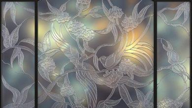 دانلود آبجکت پنجره سنتی تری دی مکس Pro 3DSky - Birds stained glass Tiffany