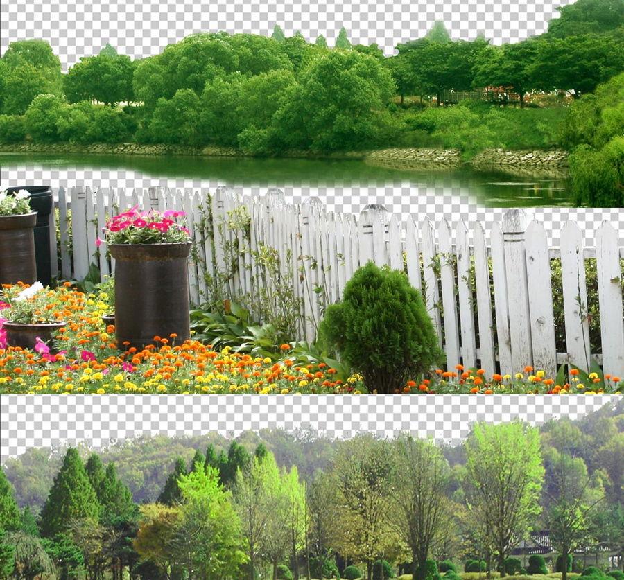 دانلود رایگان پرسوناژ درخت برای فتوشاپ CUT OUT TREES PACKAGE