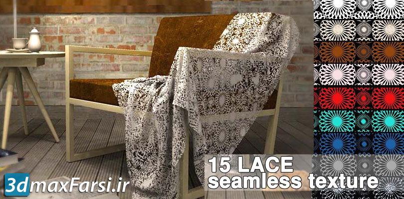 دانلود تکسچر پارچه قرمز (تکسچر پارچهگلدار) Lace fabrics textures seamless